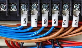 fiação - painel de controle com fios foto