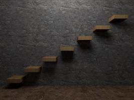 escada para a perspectiva de interiores de sucesso