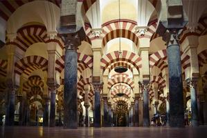 dentro da mezquita