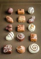bombons de chocolate de luxo foto
