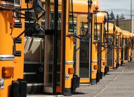 lote de ônibus foto