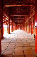 corredor vermelho da cidade imperial foto