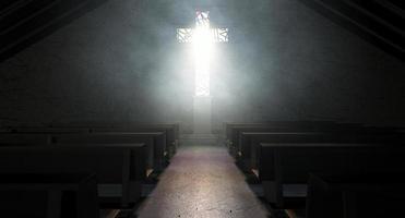 vitral igreja crucifixo foto