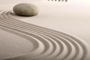 jardim de pedra zen foto