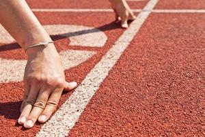 sprintstart no atletismo foto
