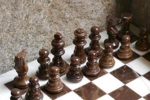 jogo de xadrez em mármore