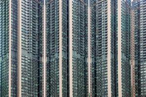 bloco de apartamentos em hong kong foto