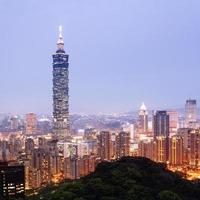 skyline de taipei - taiwan. foto
