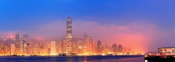 panorama do porto de hong kong victoria foto