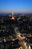 paisagem urbana de tóquio, japão foto