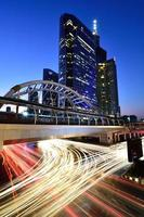 bts brt céu ponte bangkok tailândia foto