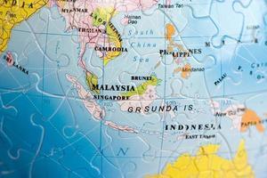 quebra-cabeça do mundo 3d: sudeste da ásia foto