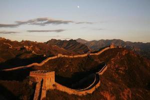 grande muralha em jinshanling foto
