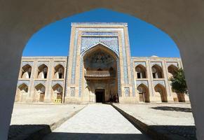 mohammed rakhim khan medressa - khiva - uzbequistão foto