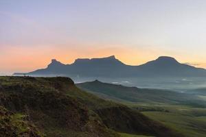 vista espetacular do ponto de vista no parque nacional de canaima foto