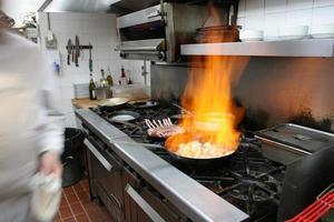 cozinha profissional do restaurante, canadá foto