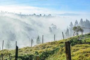 nevoeiro da montanha foto