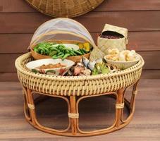conjunto de comida de chiang mai, Tailândia