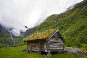 antiga casa histórica na Noruega