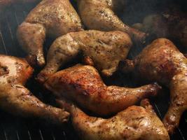 grelha de frango foto