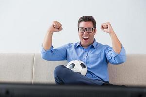 homem feliz foto