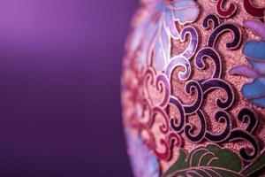 vaso indiano close-up foto