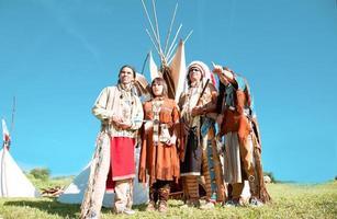 grupo de índios norte-americanos foto
