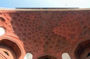 detalhes arquitetônicos do portão principal do taj mahal foto