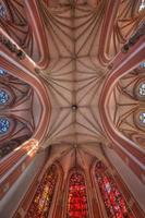abóbada gótico da igreja wroclaw, polska foto
