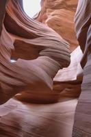 detalhes de texturas no canyon do antílope inferior foto