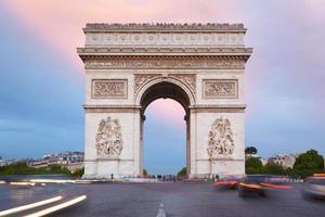 arco do triunfo em paris, frança foto
