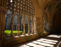 claustro real da abadia da batalha em portugal foto