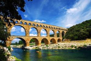 Pont du Gard no sul da França foto