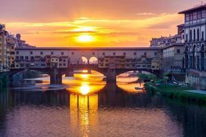 Florença. ponte vecchio. foto