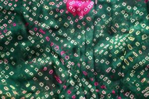 tecido de saree indiano bandhej textura de tecido