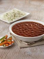 caril de rajma masala, comida indiana, índia foto