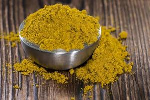 tigela com curry em pó