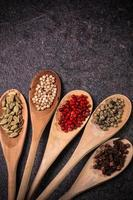 especiarias, ingredientes foto