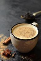 chá indiano masala. foto