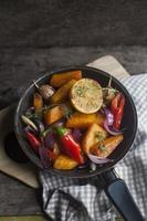 caril de abóbora vegetariana foto