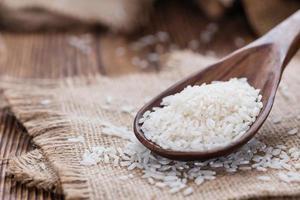 monte de arroz foto