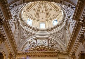 cúpula dentro da catedral de valência foto