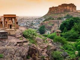forte mehrangarh, jodhpur, rajasthan, índia foto