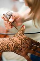 aplicação de henna