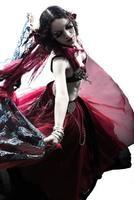 mulher árabe dançarina do ventre dança silhueta foto