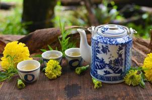 bule de chá chinês foto