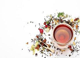 chá de ervas e masala foto