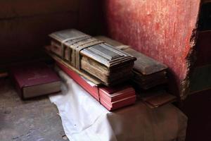 interiores do mosteiro budista, por volta de maio de 2011, ladakh, Índia foto