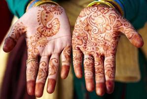 tatuagem de henna mehndi mão arte