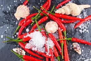 pimenta vermelha quente foto